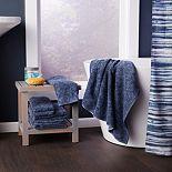 Saturday Knight, Ltd. Shibori Stripe Shower Curtain Collection