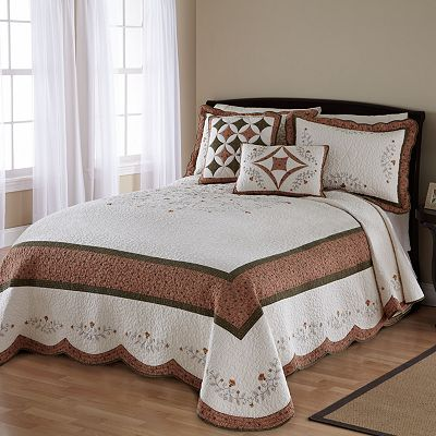 Always Home Wellesley Quilted Bedspread Coordinates