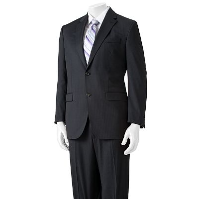 Chaps Classic-Fit Pin-Striped Wool Suit Separates