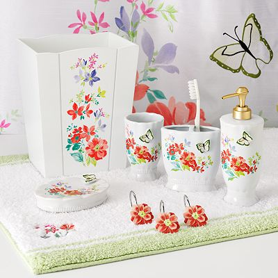 Croft and Barrow Spring Floral Bath Accessories