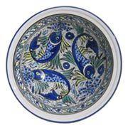 Le Souk Ceramique Aqua Fish Serving Bowl Collection
