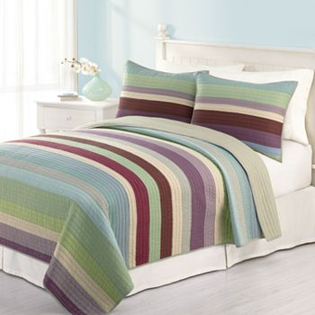 Home Classics Audrey Striped Quilt Coordinates