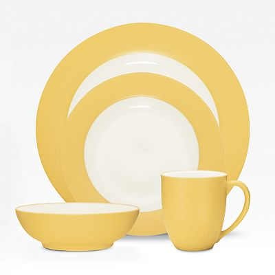 Noritake Colorwave Mustard Rim Dinnerware Collection