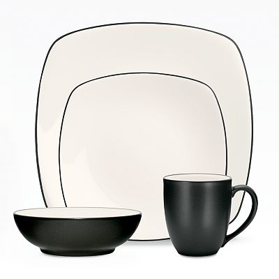 Noritake Colorwave Graphite Square Dinnerware Collection