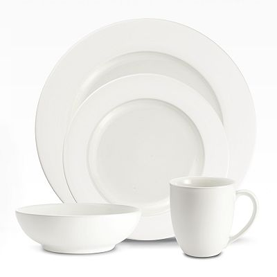 Noritake Colorwave White Rim Dinnerware Collection