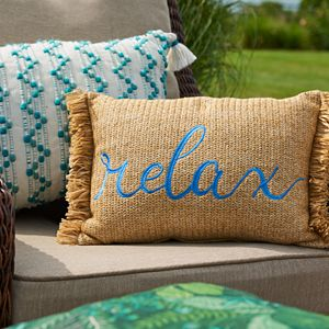 Take any living area to the next level with this versatile Sonoma Goods For Life Indoor Outdoor Pillow Collection.