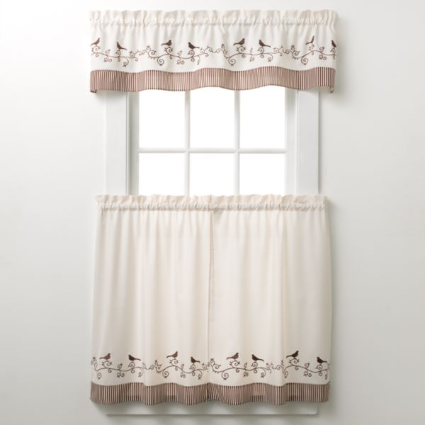 Kohls.com CHF & YOU CHF And You Bird Tier Kitchen Curtains