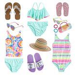 Girls 4-16 Shiny Beach Day Swim Collection