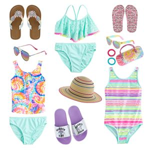 Girls 4-16 Shiny Beach Day Swim Collection
