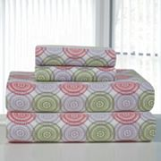 Pointehaven Starburst Flannel Sheet Set