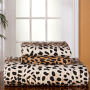Pointehaven Cheetah Flannel Sheet Set