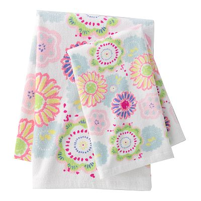 Jumping Beans Flower Power Bath Towels