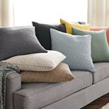 SONOMA Goods for Life® Stone Washed Diamond Feather Fill Throw Pillow Collection