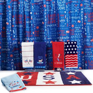 Celebrate Americana Together Flag Shower Curtain Collection