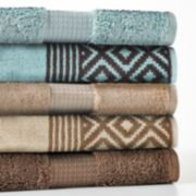 Apt. 9 Highly Absorbent Solid & Diamonds Bath Towels