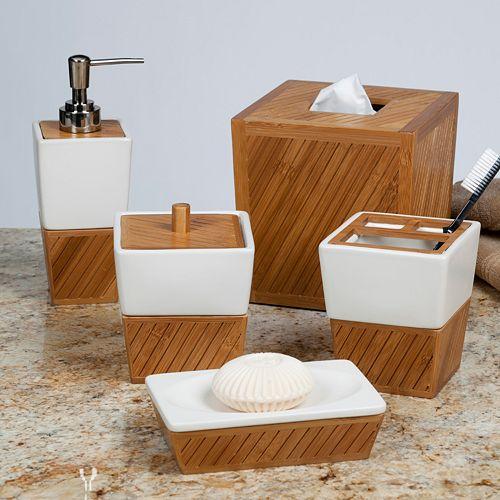 Bath Spa Bamboo Bathroom Accessories Collection