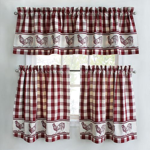 Park B Smith Provencal Rooster Tier Kitchen Window Curtains