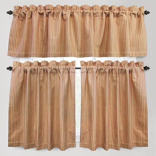 B. Smith Cortina Tier Kitchen Curtains