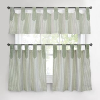 Park B. Smith TickingStripe Tier Kitchen Curtains
