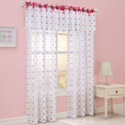 Polka-Dot Voile Window Treatments