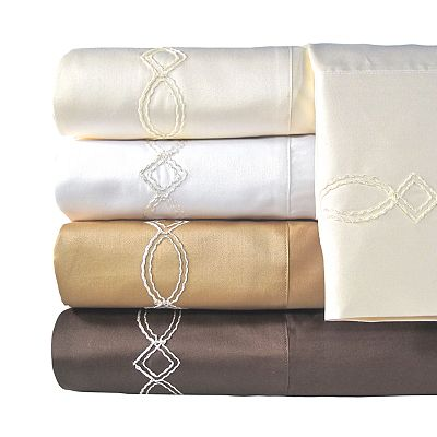 Veratex American Collection 800-Thread Count Egyptian Cotton Sateen Chain Sheet Set