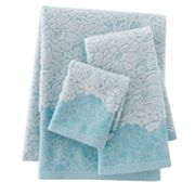 Croft and Barrow Flora Jacquard Bath Towels