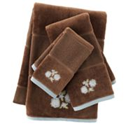 Croft and Barrow Flora Embroidered Bath Towels