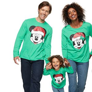 Disney's Mickey & Minnie Mouse Christmas Santa Hat Graphic Tees by Family Fun?