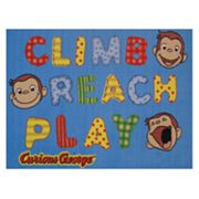 Fun Rugs Curious George Climb Reach Play Rug