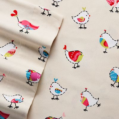 Home Classics Bird Flannel Sheet Set
