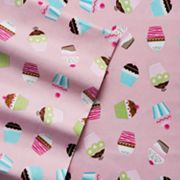 Home Classics Cupcake Flannel Sheet Set