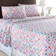 Home Classics Floral Dot Flannel Sheet Set