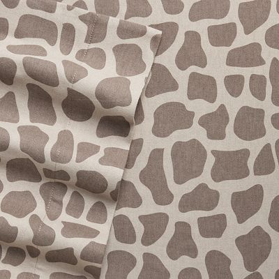 Home Classics Giraffe Flannel Sheet Set