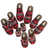Dearfoams Buffalo Check Family Bear Slippers