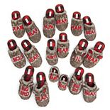 Dearfoams Faux Fur Family Bear Slippers