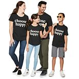 "Family Fun? ""Choose Happy"" Graphic Tops"