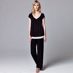 Simply Vera Vera Wang Pajamas: Basic Luxury Pajama Separates - Women's