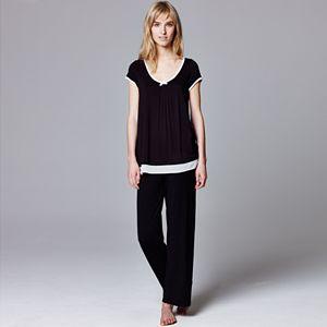 Simply Vera Vera Wang Pajamas: Basic Luxury Pajama Separates - Women's