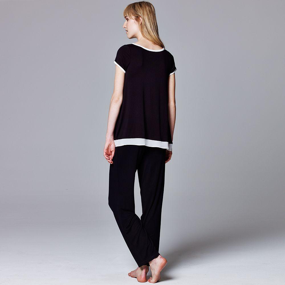 Simply Vera Wang Pajamas Basic Luxury Pajama Separates