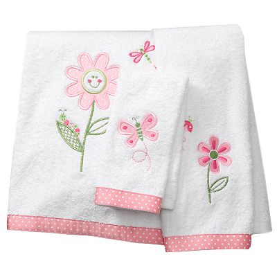 Butterfly Garden Bath Towels