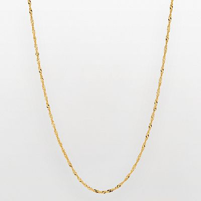 10k Gold Singapore Chain Necklace