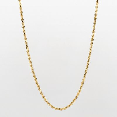 10k Gold Rope Chain Necklace