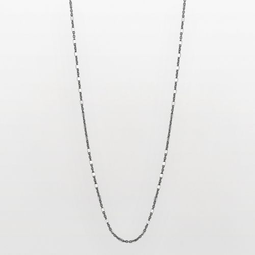 Sterling Silver Two Tone Station Necklace
