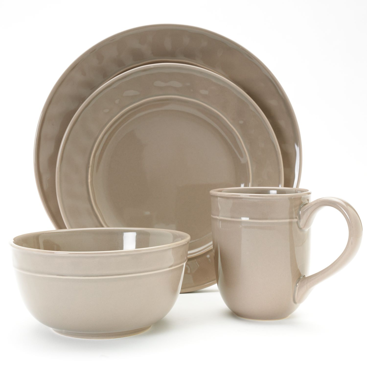 Food Network Fontina Taupe Dinnerware Collection