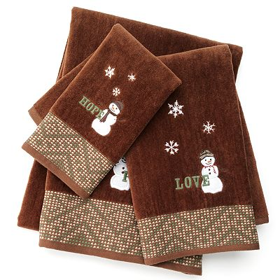 St. Nicholas Square Lodge Snowman Bath Towels