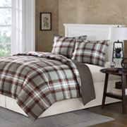 Comfort Classics Kirkland Plaid Reversible Down-Alternative Comforter Set