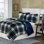 Comfort Classics Carson Plaid Reversible Down-Alternative Comforter Set