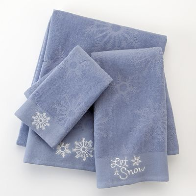 St. Nicholas Square Snowflake Bath Towels
