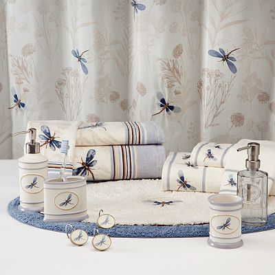 Croft and Barrow Dragonfly Valley Floral Bath Accessories