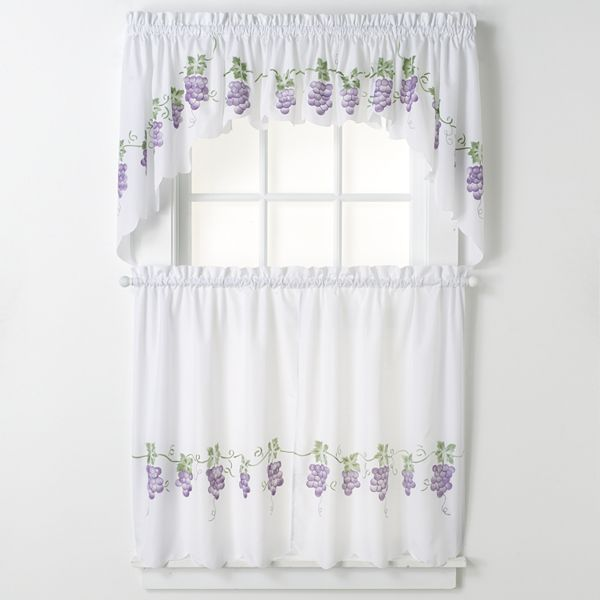 Chf you chf and you grapes swag tier kitchen curtains questions answers how to - Kohls kitchen curtains ...